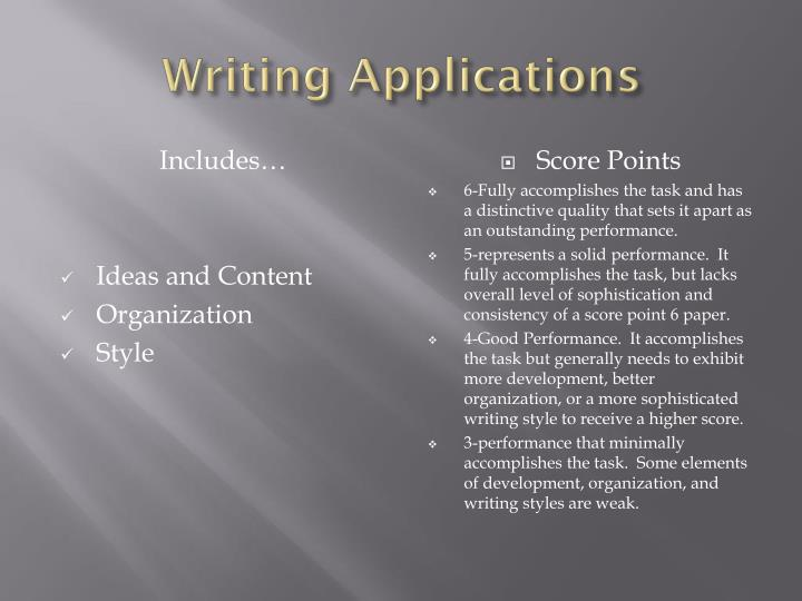 Writing Applications