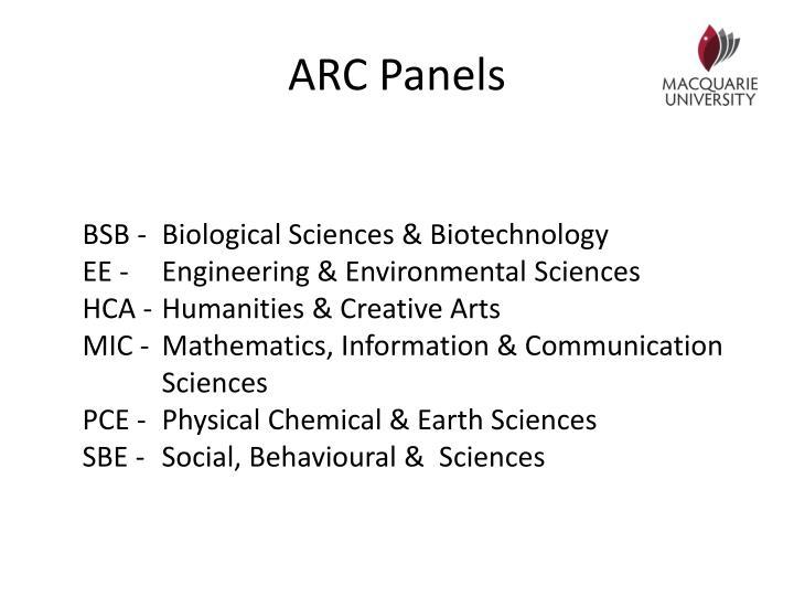 ARC Panels