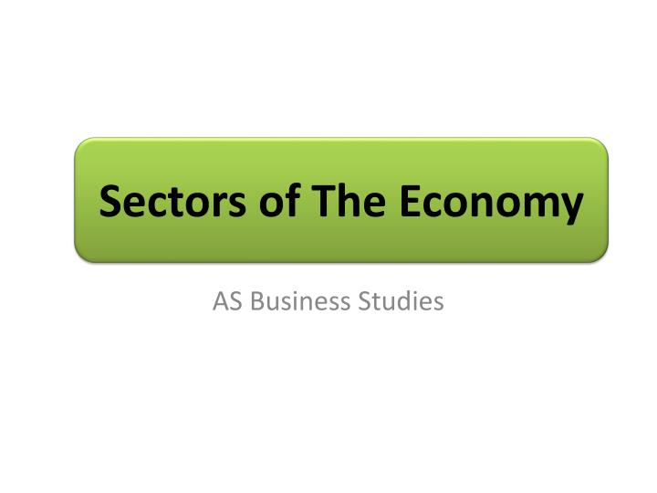 Sectors of the economy