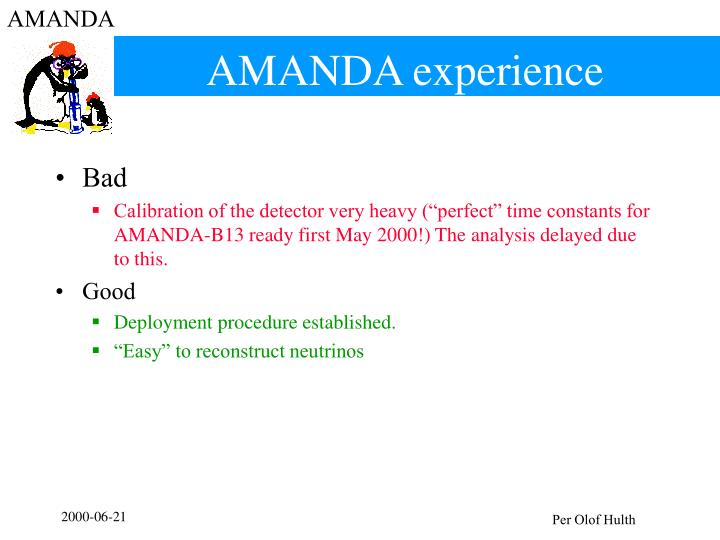 Amanda experience