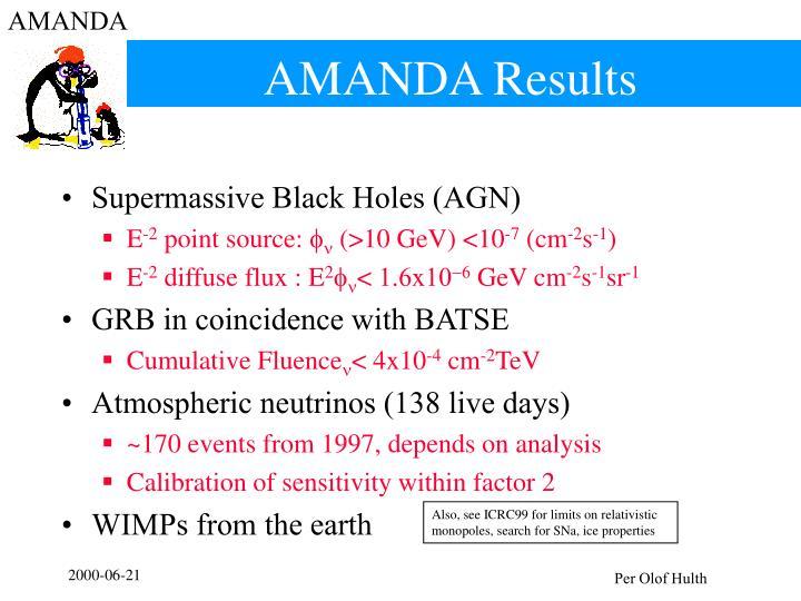 AMANDA Results