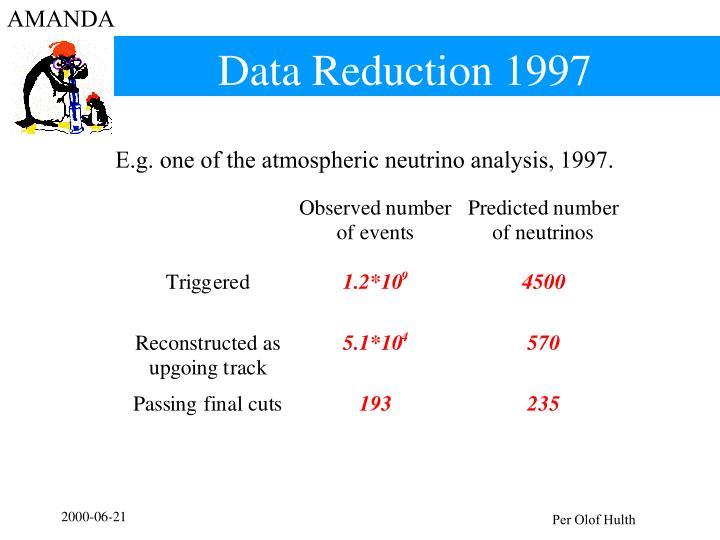 Data Reduction 1997