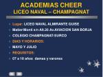 academias cheer liceo naval champagnat