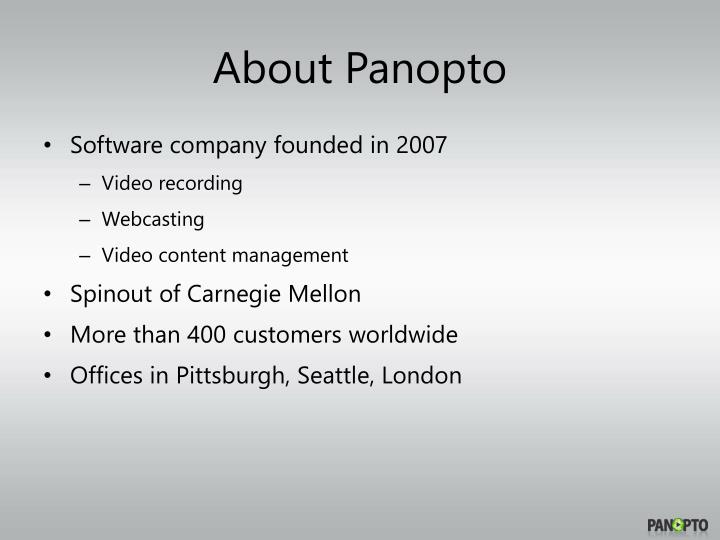 About panopto