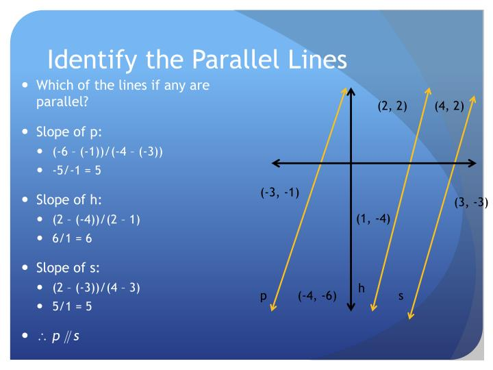 Identify the Parallel Lines