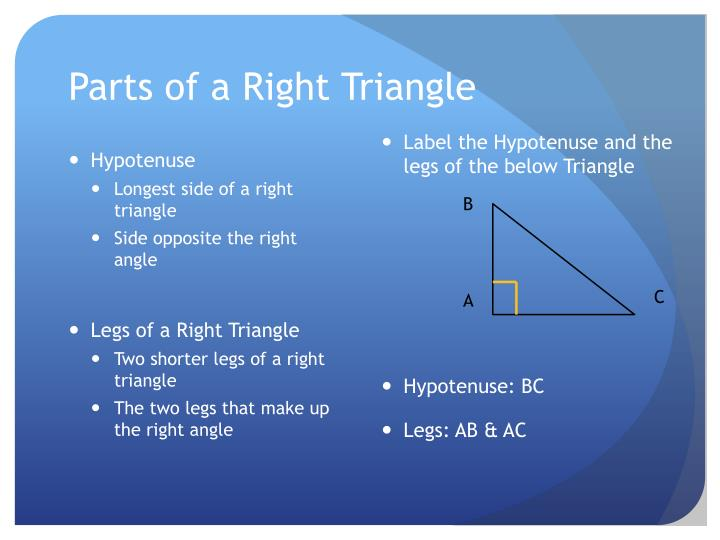 Parts of a Right Triangle