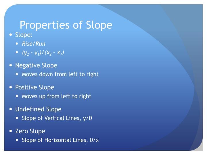 Properties of Slope