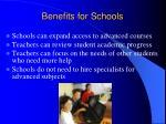 benefits for schools