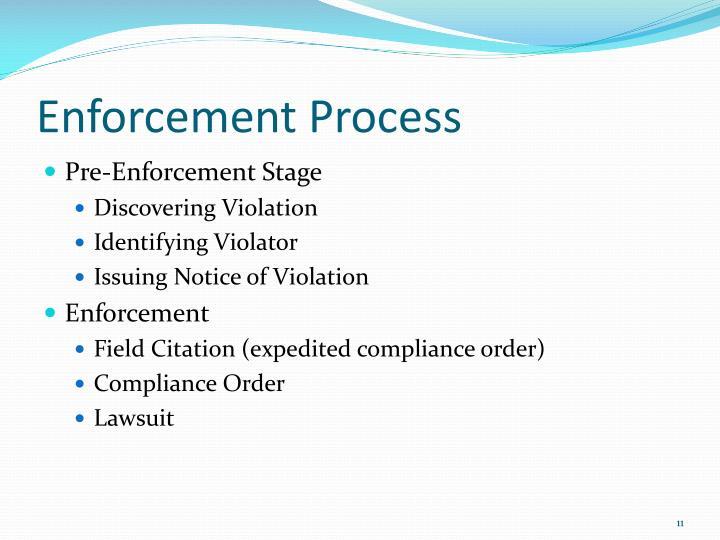 Enforcement Process