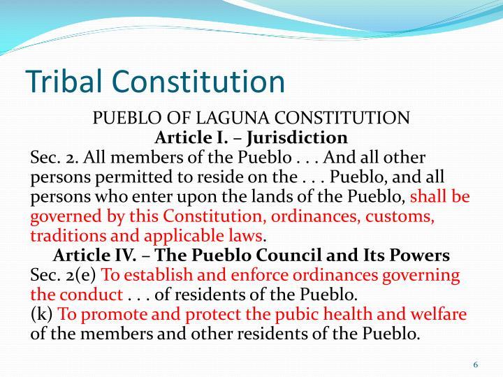 Tribal Constitution
