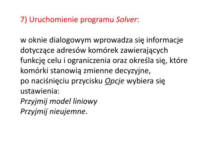 7)Uruchomienie programu