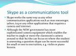 skype as a communications tool
