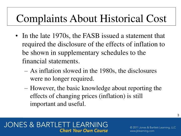 Complaints About Historical Cost