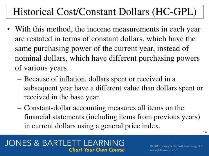 Historical Cost/Constant Dollars (HC-GPL)