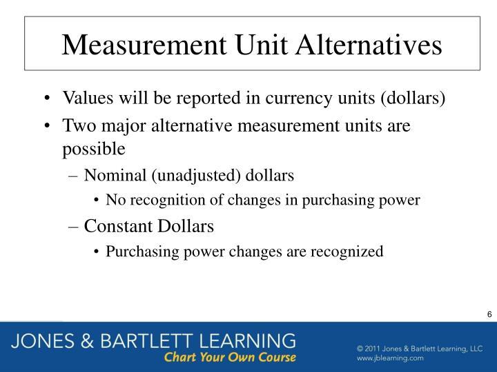 Measurement Unit Alternatives