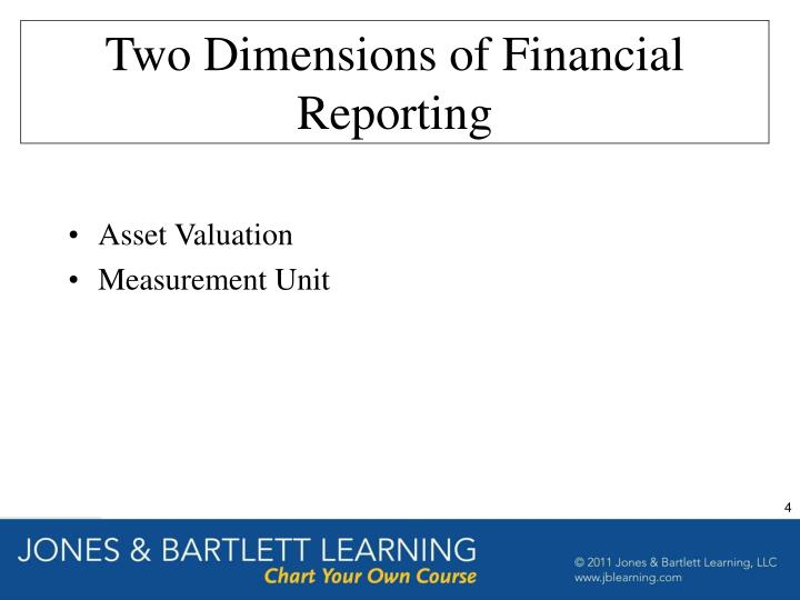 Two Dimensions of Financial Reporting