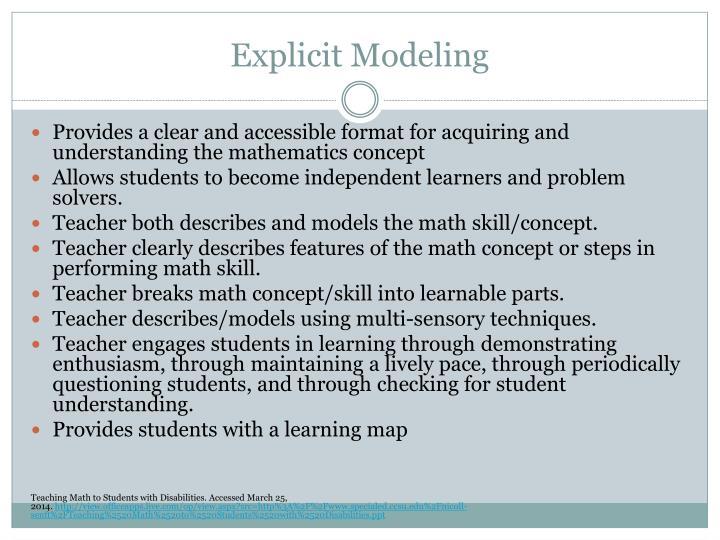 Explicit Modeling