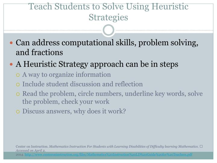 Teach Students to