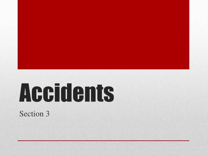 accidents n.