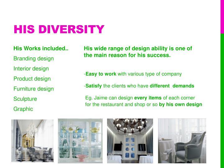 His diversity