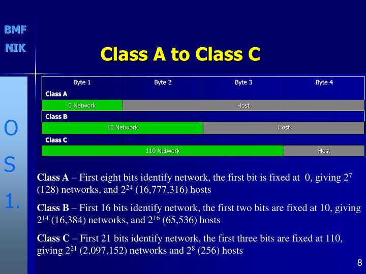Class A to Class C