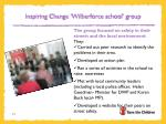 inspiring change wilberforce school group