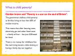 what is child poverty