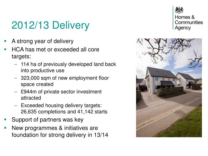 2012/13 Delivery