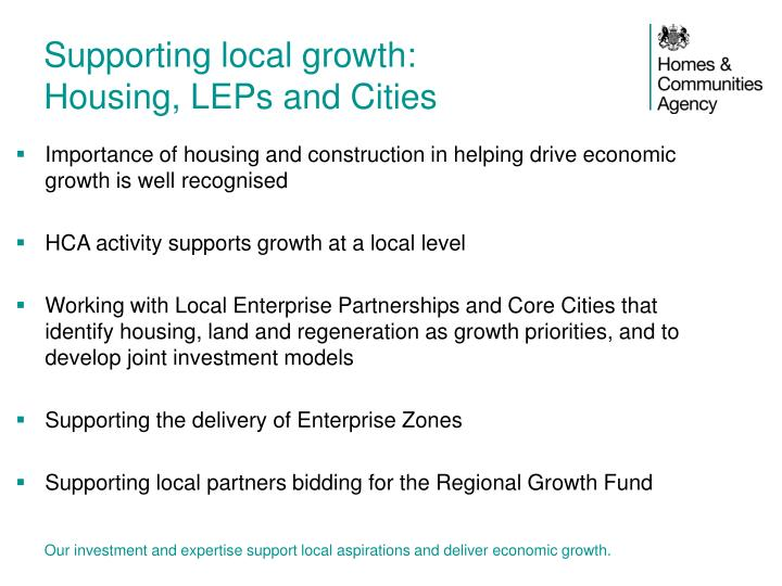Supporting local growth: