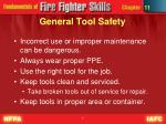 general tool safety