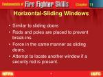 horizontal sliding windows