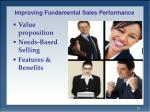improving fundamental sales performance