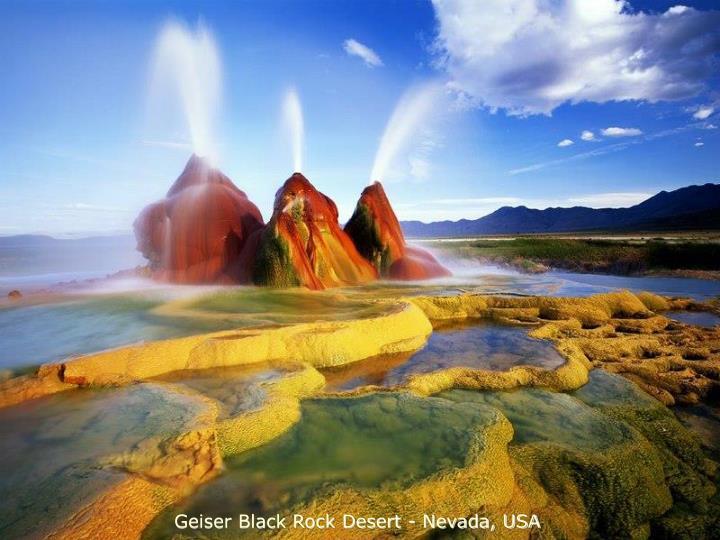 Geiser Black Rock Desert - Nevada, USA