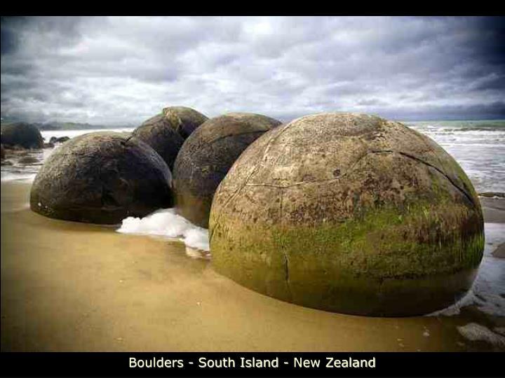 Boulders - South Island - New Zealand