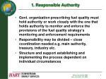 1 responsible authority