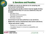 6 sanctions and penalties