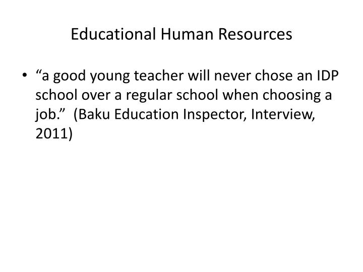 Educational Human Resources