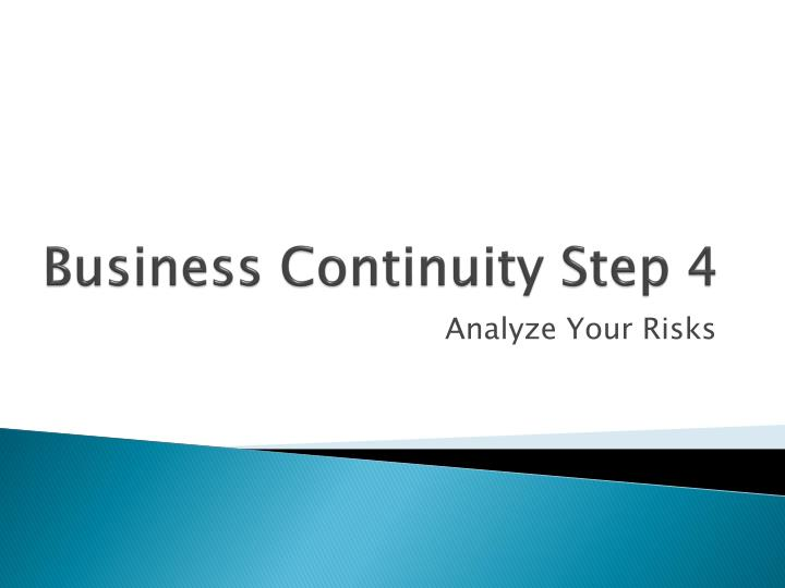 business continuity step 4 n.