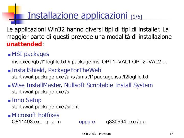 Installazione applicazioni