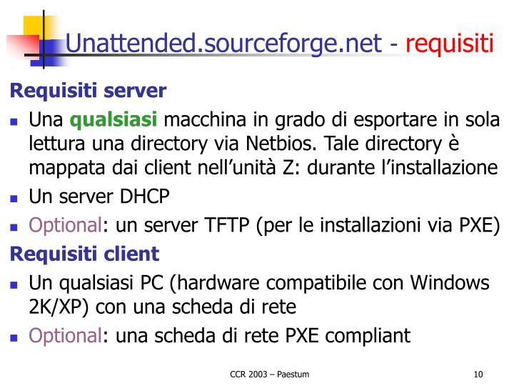 Unattended.sourceforge.net