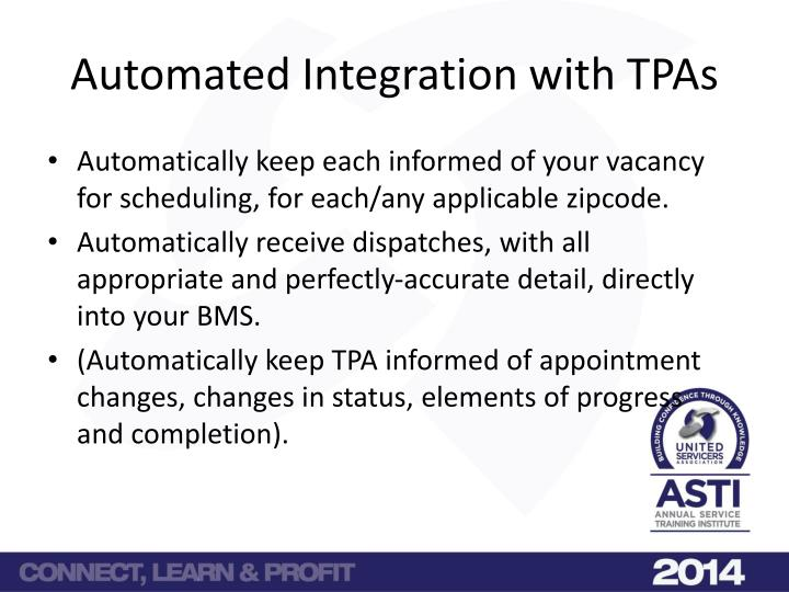 Automated Integration with TPAs