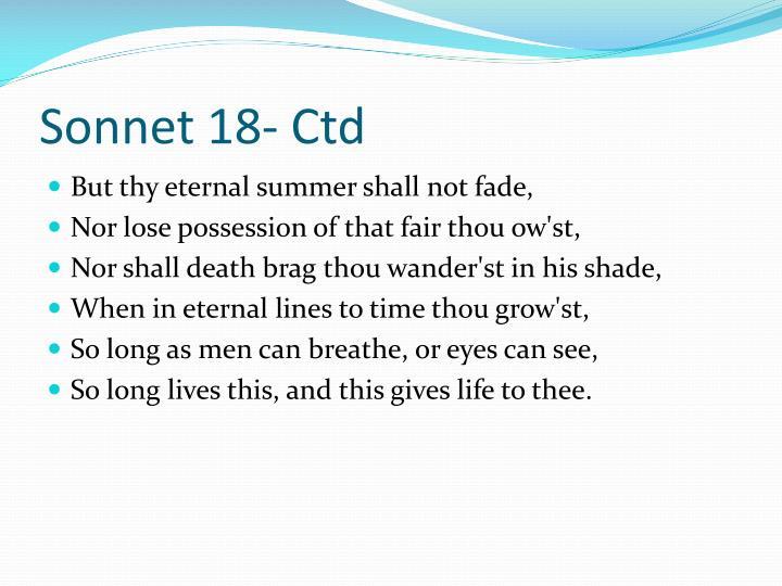 Sonnet 18-