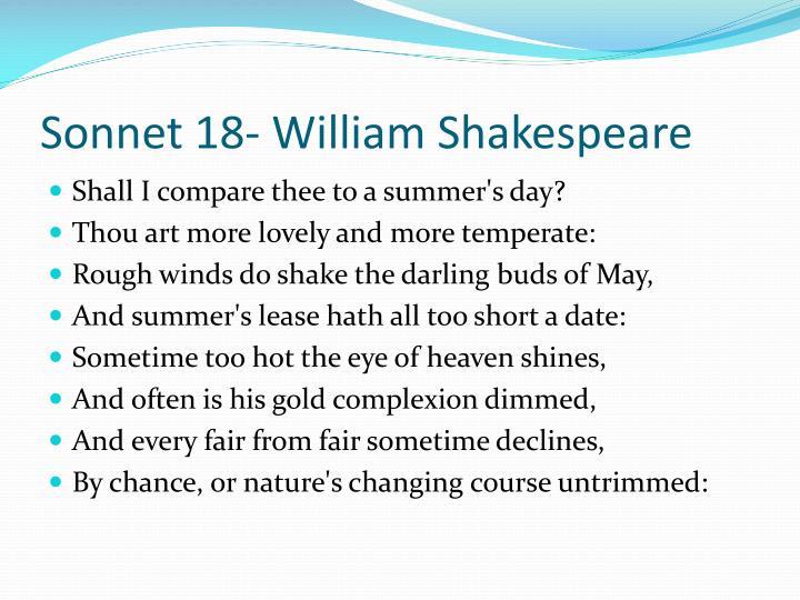 Sonnet 18- William Shakespeare