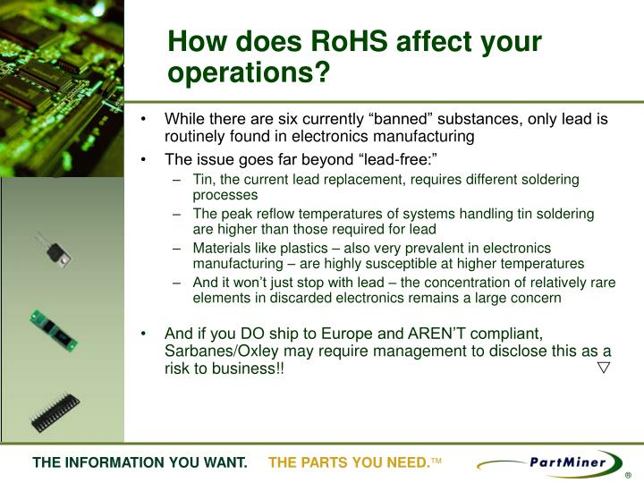 How does rohs affect your operations