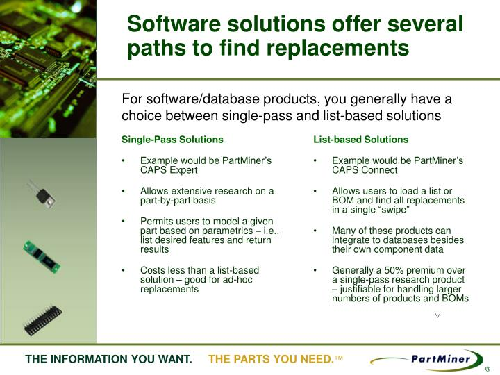 Single-Pass Solutions