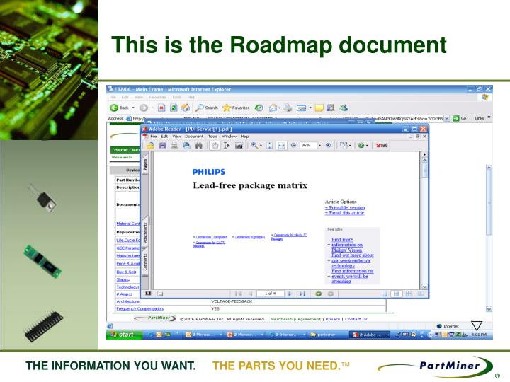 This is the Roadmap document