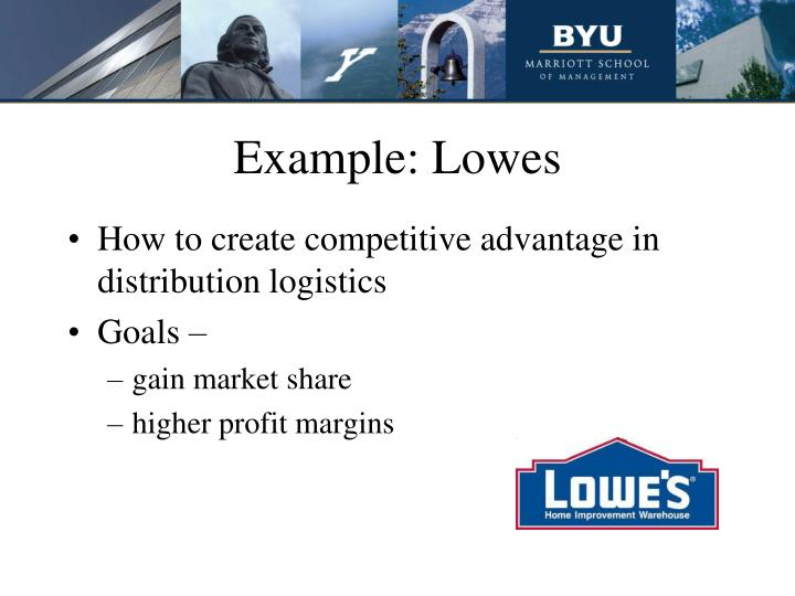 Example: Lowes