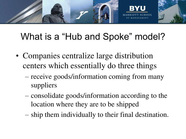 """What is a """"Hub and Spoke"""" model?"""