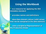 using the workbook