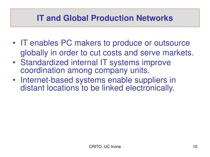IT and Global Production Networks